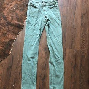 Gap Forrest Green Jeans Size 0